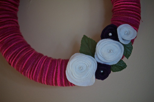 1st Yarn Wreath 8